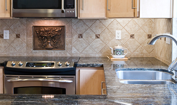 Let the professionals at Ashley Interiors assist you in you countertop and wall tile selections.